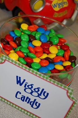 Wiggly coloured candy is a great idea for your Wiggly party (as long as you don't eat too much!)  #TheWiggles #WigglyParty
