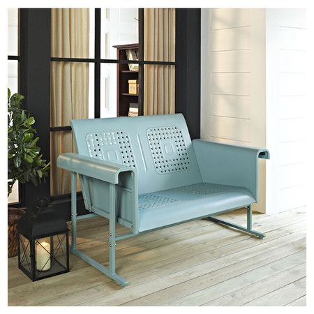 Veranda Loveseat in Caribbean Blue.