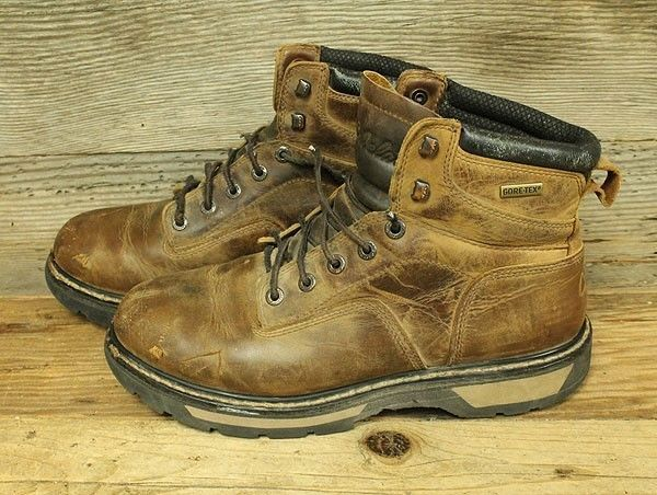 61c26a3a4e6 CABELA'S GORE TEX MENS BROWN LEATHER HIKING/TRAIL HUNTING BOOTS SZ ...