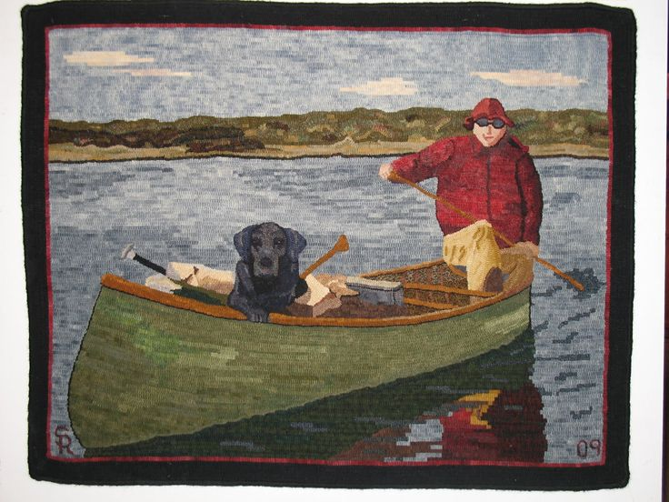 1382 best hooked rugs - landscapes/pictorials images on pinterest