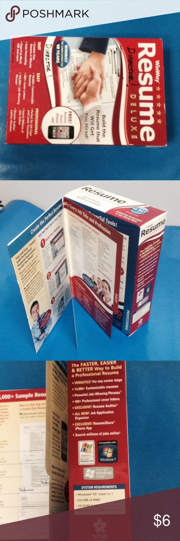 winway resume deluxe resume software