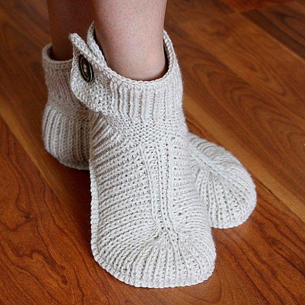 Knitting Pattern (PDF file) Winter Boots - ADULT sizes. $3.99, via Etsy.