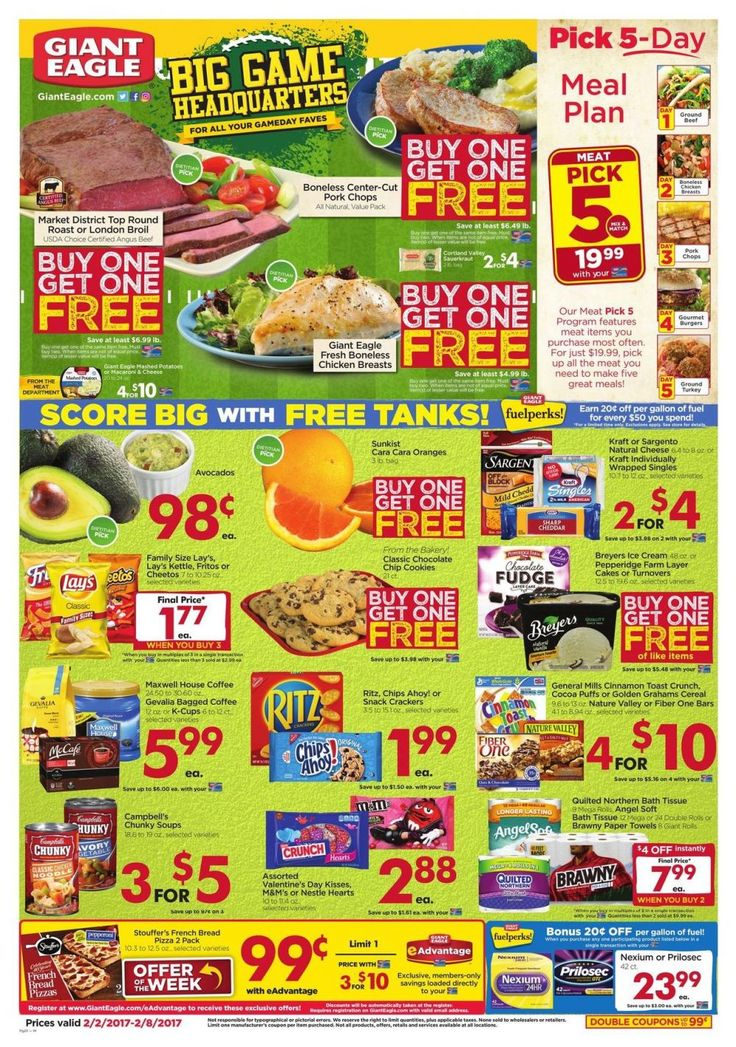 Giant Eagle Weekly Ad Circular Feb 2 - 8 United States #Grocery #GiantEagle