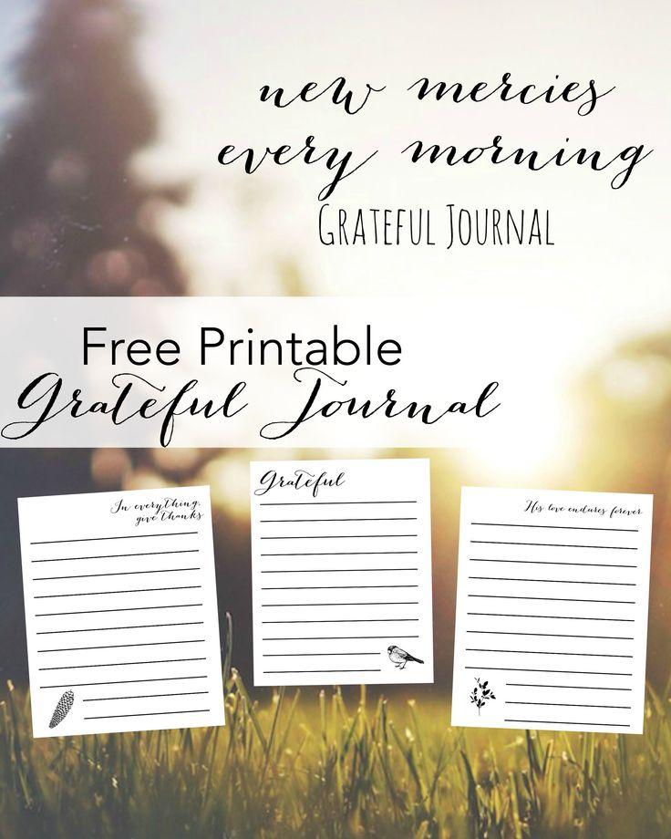 free printable gratitude journal   freeprintable