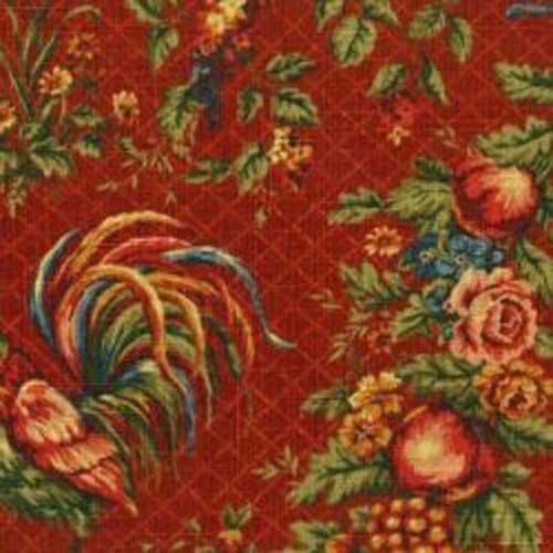 Waverly Saison De Printemps Bordeaux Rooster Toile Home