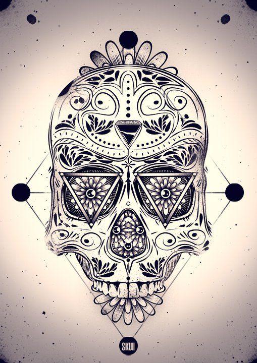 quiero un tattoo así! sin los triángulos!