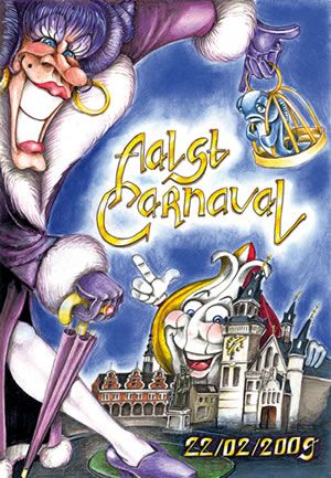 carnaval aalst affische 2009