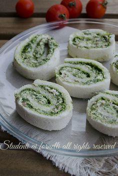 ricetta girelle con tonno philedelphia e pesto di rucola con pancarrè ricetta estiva antipasto secondo freddo