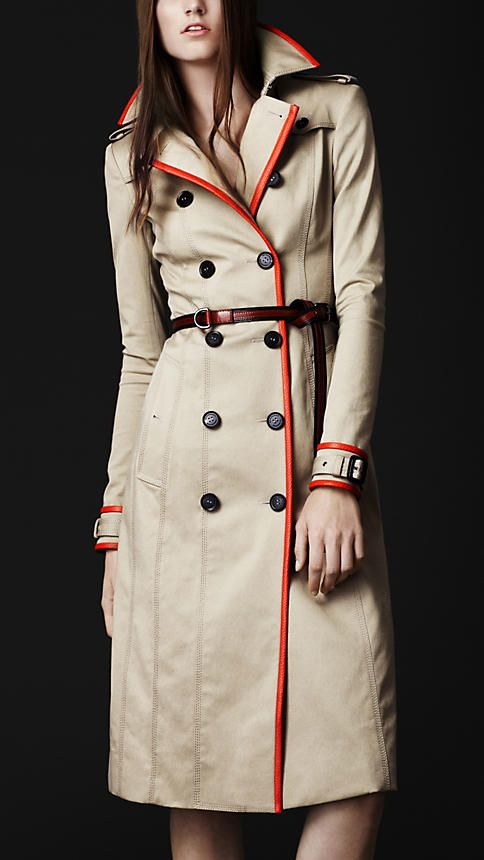Burberry Stretch Gabardine Trench (love the textured colour trim)