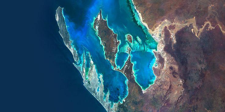 Shark Bay, Australia - UNESCO World Heritage in Western Australia - PlanetSAT satellite image