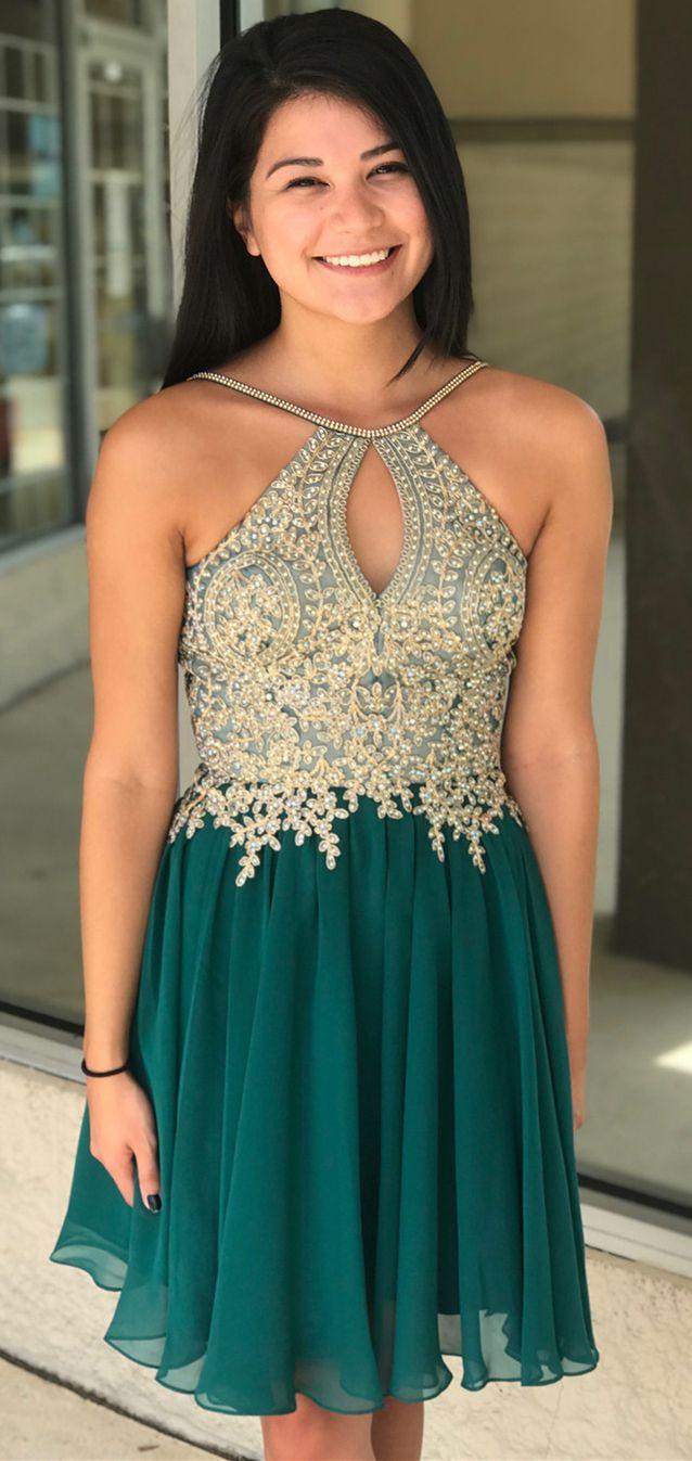 4da96cb74e5fb Cheap Short Gold Prom Dresses   Saddha