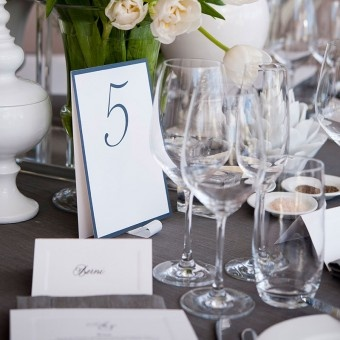 Papier d'Amour place cards and table numbers