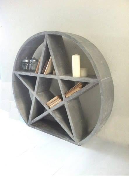 I would love to make this myself. Pentagram Shelf HOME