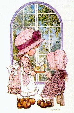 SARAH KAY-strange sometimes she is called Holly Hobbie...or is this a different one