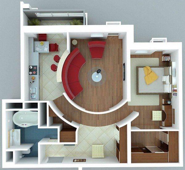 Best D Floor Plans Images On Pinterest Bedroom Floor Plans - Apartment house images