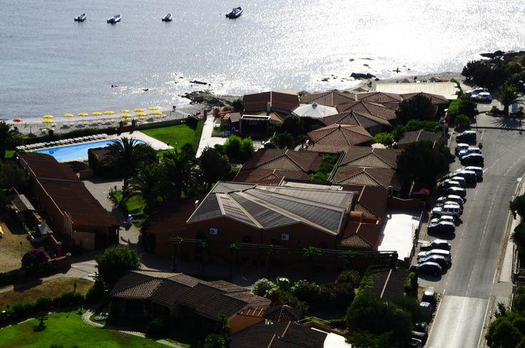 Vista dell'hotel dall'alto