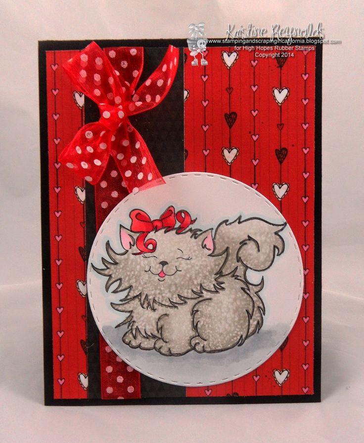 #High Hopes Stamps #Precious Princess #Valentine Card #Kitty Card