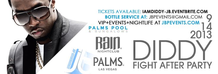 Diddy hosts Mayweather Vs. Canelo Post-Fight Party September 14, 2013 at Palms Casino Resort Las Vegas for what is guaranteed to be one of the hottest events of this Mexican Independence Day & Fight Weekend! Advance discounted tickets available at http://iamdiddy-jb.eventbrite.com