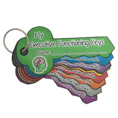 Executive functioning keys to success.. easy to put them on a ring and use them