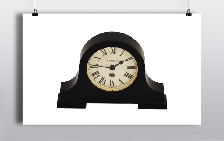 Mahogany Clock for over the mantelpiece 30cmx22cm http://www.prophouse.ie/portfolio/mahogany-clock/