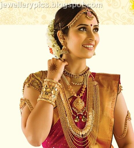 South indian bride in traditional jwellery