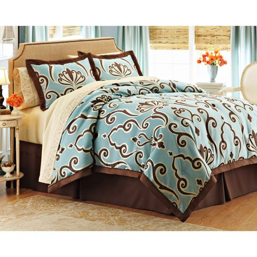 Better Homes And Gardens Damask Scroll 8 Piece Bed In A Bag. Queen Comforter  SetsBedding ...