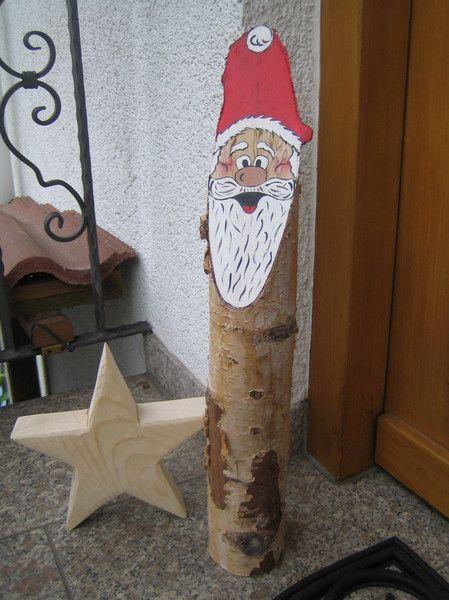 Nikolaus & Weihnachtsmann - Nikolaus,Birke,Holz,Deko,Weihnachten,Geschenk - ein Designerstück von Dekoby-Jutta bei DaWanda