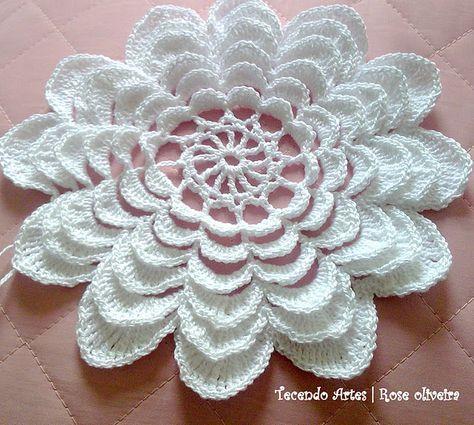 Beautiful crochet flower