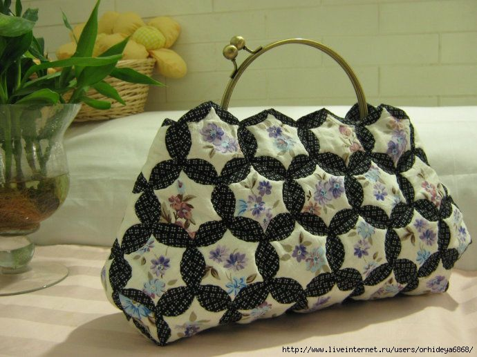 Very beautiful bag from hexagons