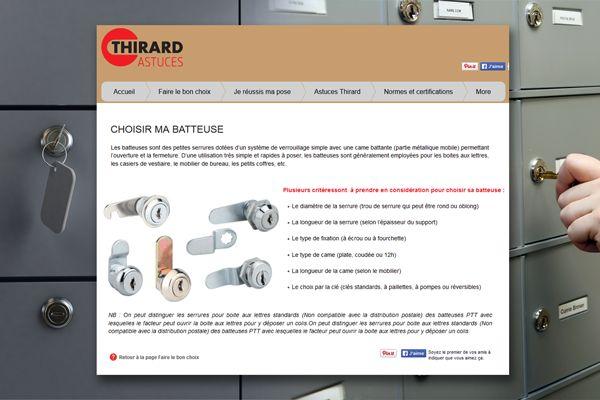 CHOISIR SA BATTEUSE ! Serrures pour boites aux lettres ou armoires Tout savoir pour faire le bon choix sur www.thirard-astuces.fr