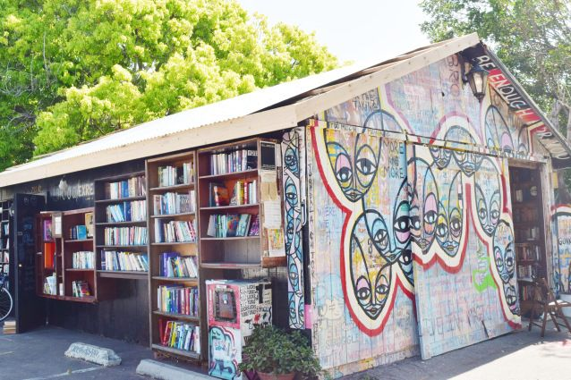 Things to do in San Diego: hidden book store in Carlsbad Village. They will soon have a coffee cart and a back patio open!