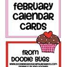 Enjoy this free set of calendar cards!    Visit my blog:  www.doodlebugsteaching.blogspot.com...
