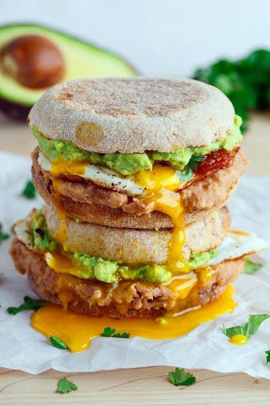 Huevos Rancheros Breakfast Sandwich. would be good with chorizo or as a burrito