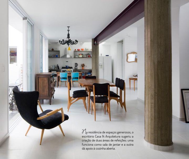 O charme da sala de estar integrada. Veja: http://casadevalentina.com.br/blog/detalhes/salas-de-jantar-integradas-(e-lindas)-2857 #decor #decoracao #interior #design #casa #home #house #idea #ideia #detalhes #details #cozy #aconchego #neutral #neutro #casadevalentina #diningroom #saladejantar #integrated #integrada