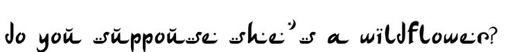 wildflower tattoos | do you suppouse she´s a wildflower? Tattoo in Arabic Writing Style ...