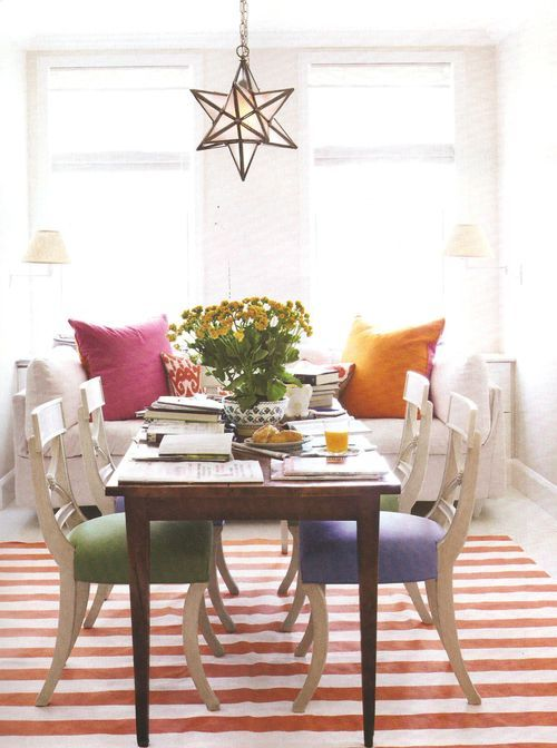 Markham Roberts In Blog 16 Fashionable Rooms With Orange Rugs And Coral