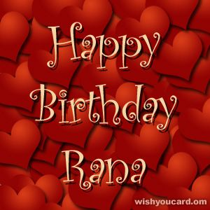 Happy Birthday, Rana!