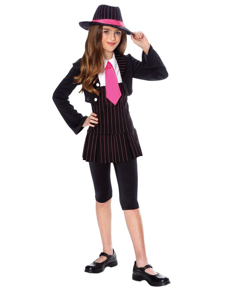 gangsta girl child costume spirit halloween - Halloween Mobster Costumes