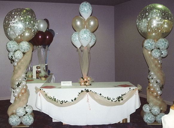 Balloon decoration ideas table decorations other for Balloon decoration for wedding reception