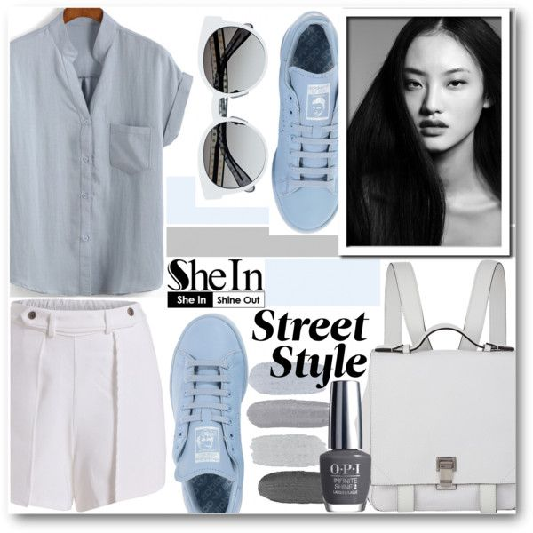 Word on the street...www.shein.com by pokadoll on Polyvore featuring adidas, Proenza Schouler, OPI, Sheinside and shein