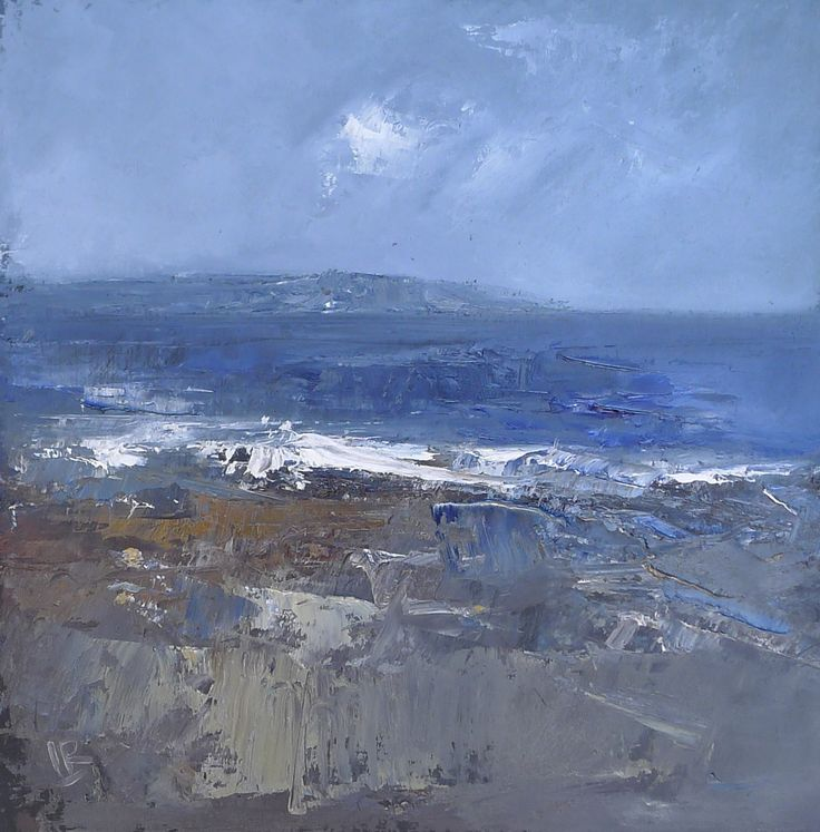 Out to the Heads of Ayr 9 x 9 inch Oil on board