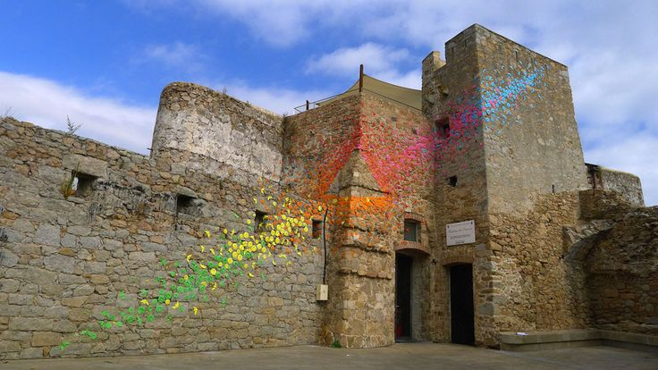 rainbow origami in Porto-Vecchio, Corsica, by Mademoiselle Maurice