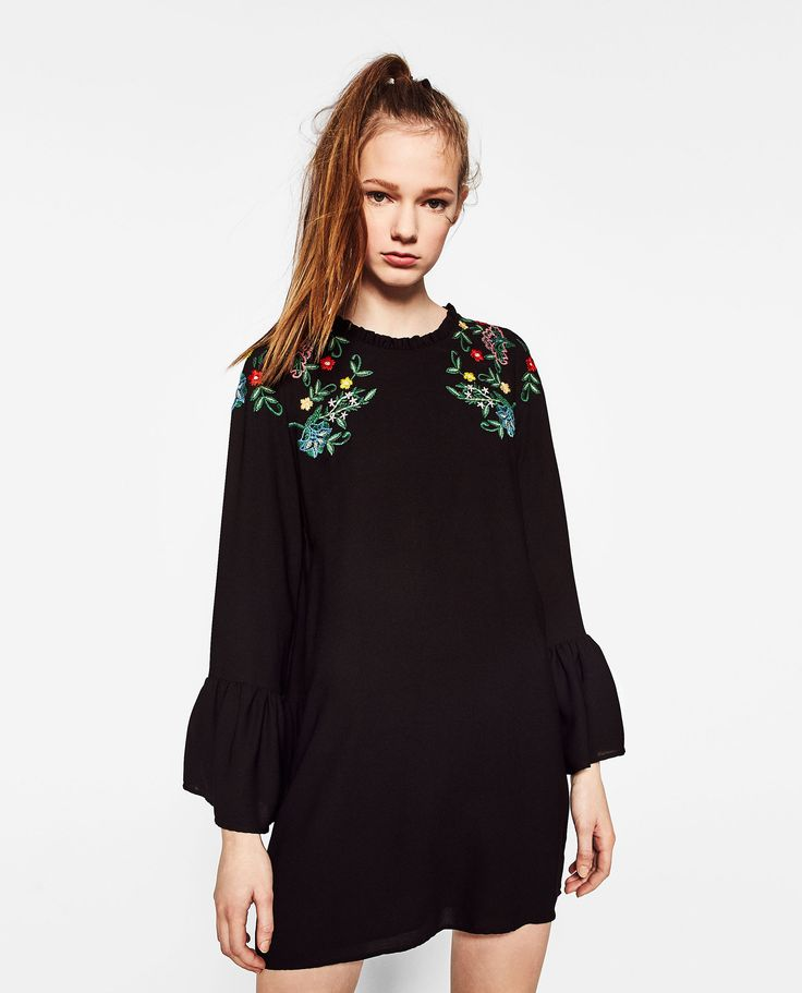 ZARA - WOMAN - FRILLED EMBROIDERED DRESS