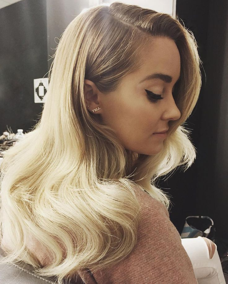 Lauren Conrad old hollywood glam hair and winged liner