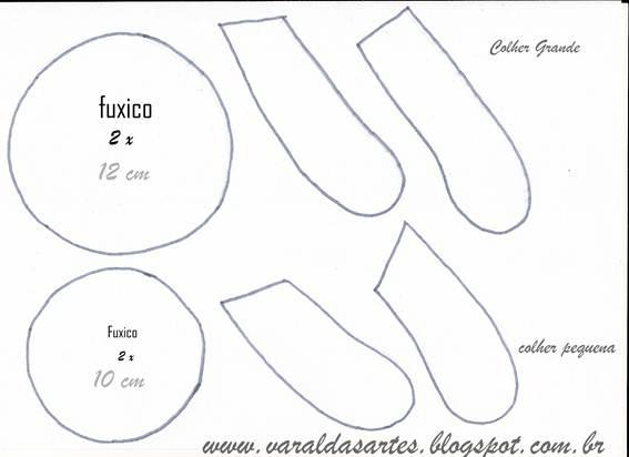 molde-colher: For Handmade, De Pau, Bicho De, 18 04 2013 Karin, Based Para, Cloth, Karin Montone, Pau Decoradas, Spoon