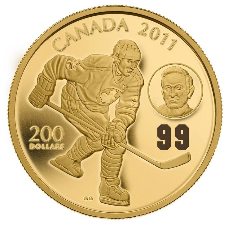 Canada 200 Dollars 22-Karat Gold Coin 2011 Wayne Gretzky & Walter Gretzky