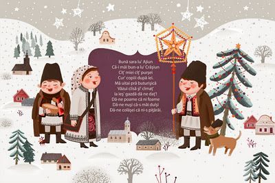 livia coloji / greeting card illustration / romanian carolers