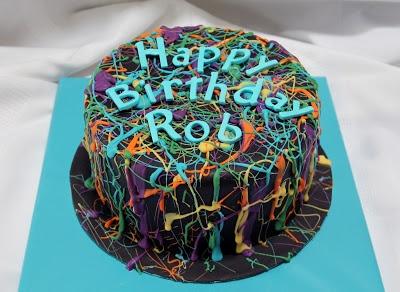 Paint Splatter Cake Tutorial