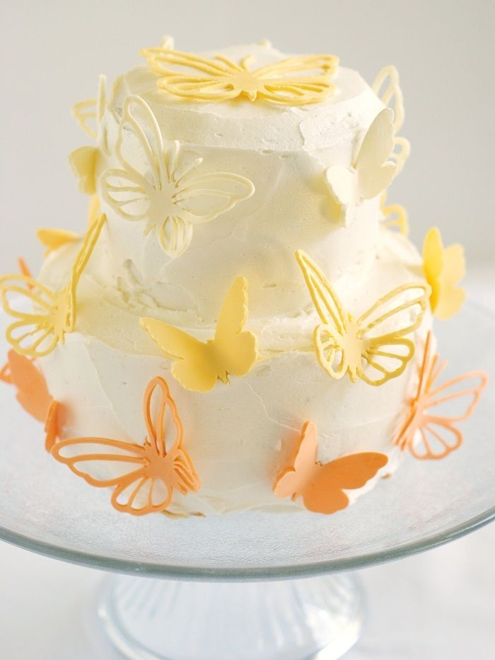 Butterfly Cake: Lemon Cakes, Layered Cakes, Beans Layered, Cakes Recipes, Lemon Vanilla Beans, Gorgeous Butterflies, Butterflies Cakes, Cricut Cakes, Beans Cakes