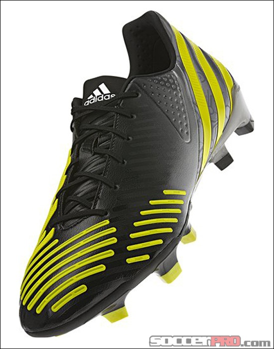 the latest 8827b 8b975 ... adidas Predator LZ TRX FG Soccer Cleats - Black with Neo Iron Metallic  and Lab Lime ...